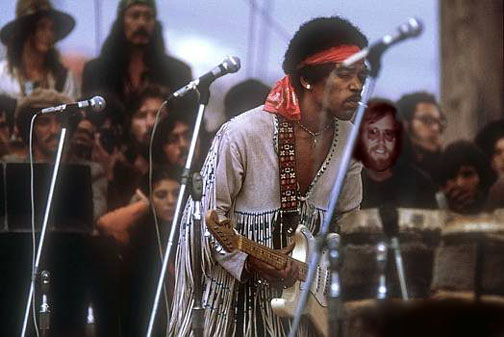 I am on stage with Jimi Hendrix!