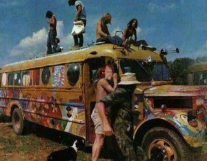 The painted Magic Bus. Party time.