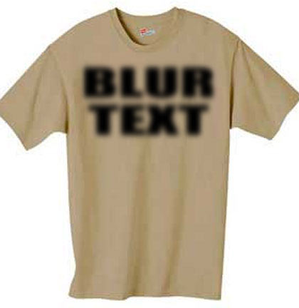 Blur Text – No, It's Not Your Eyes – by Scott Fresener