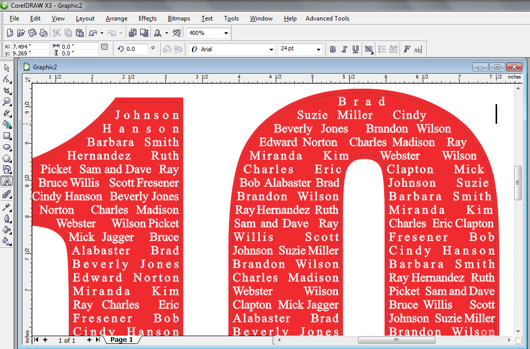 Class Name Shirts in Corel Draw by Scott Fresener