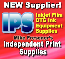 Film, Ink, Equipment from Mike Fresener's Independent Print Supply
