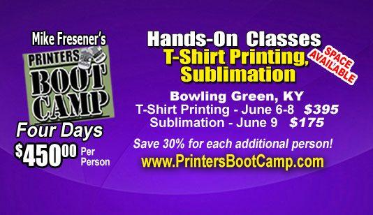 Fresener's Printers Boot Camp