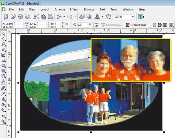 Improving Poor Photographic Images in Corel Draw |