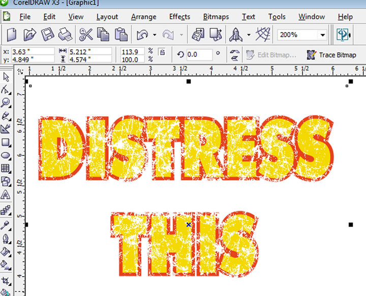 Creating The Distressed Look In Corel Draw
