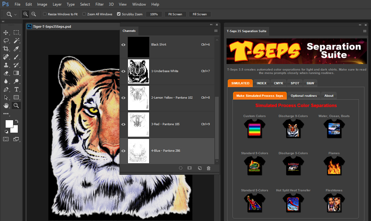 t seps color separation software free download